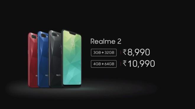 Oppo cũng ra mắt thương hiệu con như Xiaomi: trình làng Realme 2, Snapdragon 450, camera kép, giá từ 2,9 triệu - Ảnh 1.