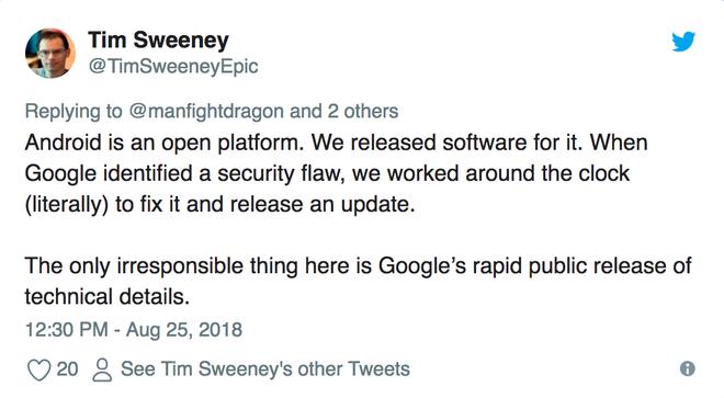 CEO Epic Games chỉ trích Google đang PR rẻ tiền khi vạch trần lỗi bảo mật trong Fornite - Ảnh 2.
