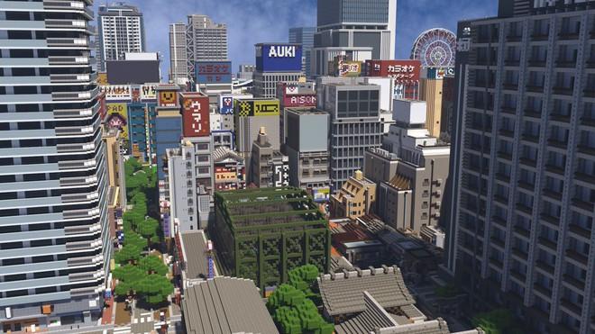 Ngỡ như đô thị sầm uất ở Nhật, loạt ảnh này lại được chụp trong Minecraft - Ảnh 6.