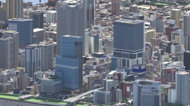 Ngỡ như đô thị sầm uất ở Nhật, loạt ảnh này lại được chụp trong Minecraft - Ảnh 2.