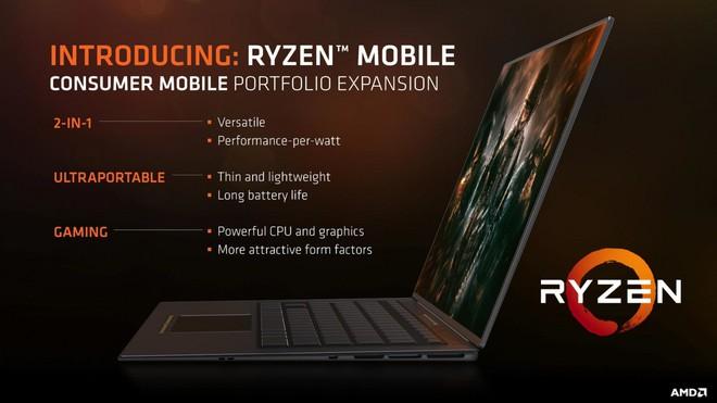 AMD ra mắt 2 bộ xử lý Ryzen 45W cho laptop để tuyên chiến với Coffee Lake H của Intel - Ảnh 1.