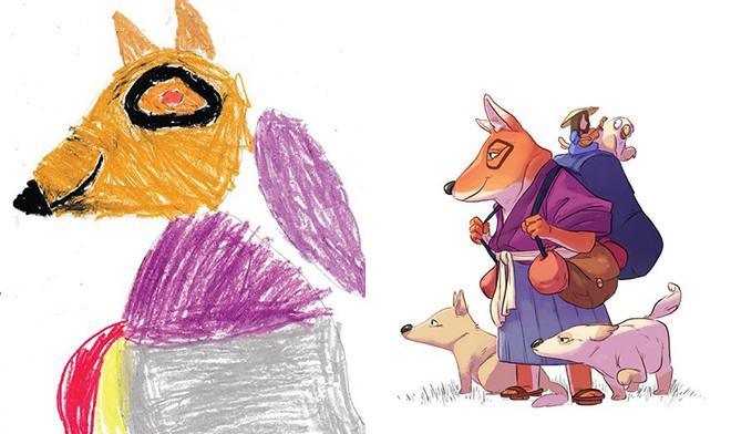 [Ảnh] Chiêm ngưỡng những tác phẩm độc đáo, kỳ lạ của trẻ em khi được chấp bút bởi họa sĩ chuyên nghiệp - Ảnh 4.
