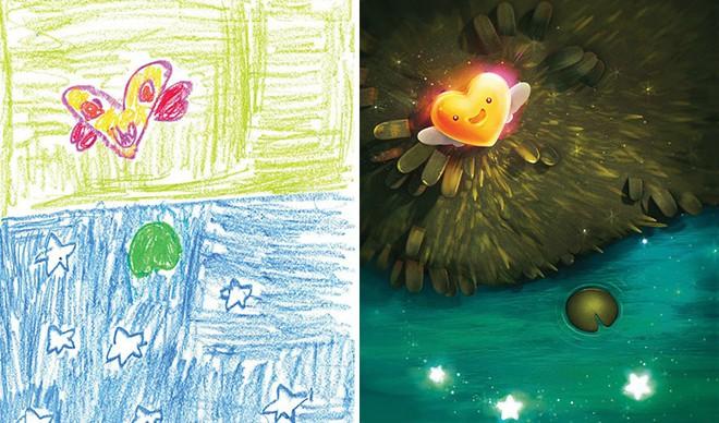 [Ảnh] Chiêm ngưỡng những tác phẩm độc đáo, kỳ lạ của trẻ em khi được chấp bút bởi họa sĩ chuyên nghiệp - Ảnh 15.