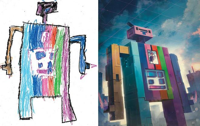 [Ảnh] Chiêm ngưỡng những tác phẩm độc đáo, kỳ lạ của trẻ em khi được chấp bút bởi họa sĩ chuyên nghiệp - Ảnh 13.