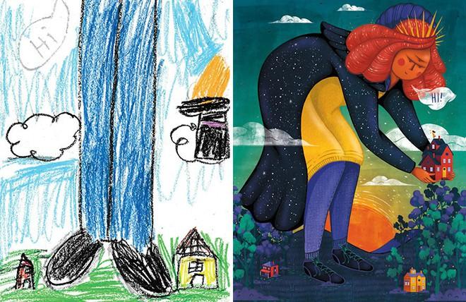 [Ảnh] Chiêm ngưỡng những tác phẩm độc đáo, kỳ lạ của trẻ em khi được chấp bút bởi họa sĩ chuyên nghiệp - Ảnh 18.