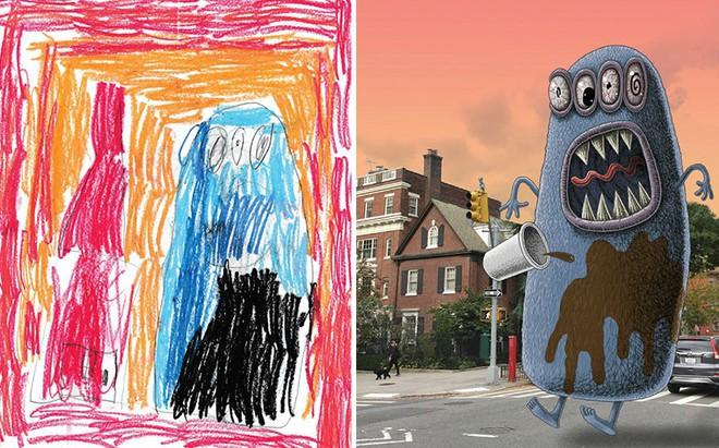 [Ảnh] Chiêm ngưỡng những tác phẩm độc đáo, kỳ lạ của trẻ em khi được chấp bút bởi họa sĩ chuyên nghiệp - Ảnh 9.