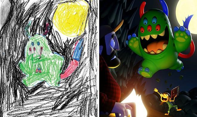[Ảnh] Chiêm ngưỡng những tác phẩm độc đáo, kỳ lạ của trẻ em khi được chấp bút bởi họa sĩ chuyên nghiệp - Ảnh 16.