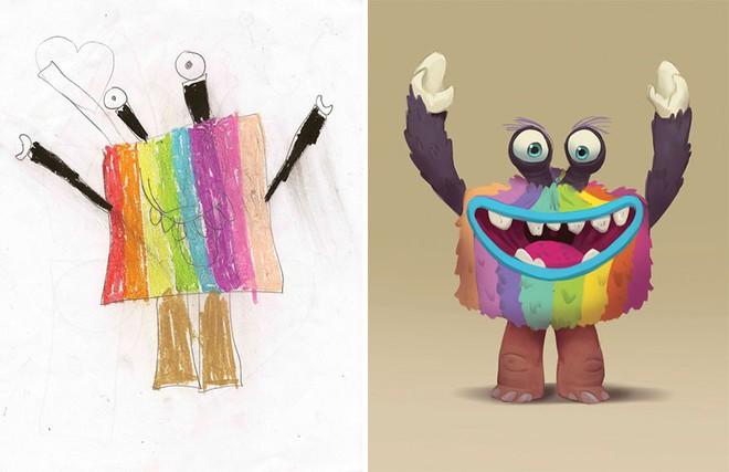 [Ảnh] Chiêm ngưỡng những tác phẩm độc đáo, kỳ lạ của trẻ em khi được chấp bút bởi họa sĩ chuyên nghiệp - Ảnh 11.