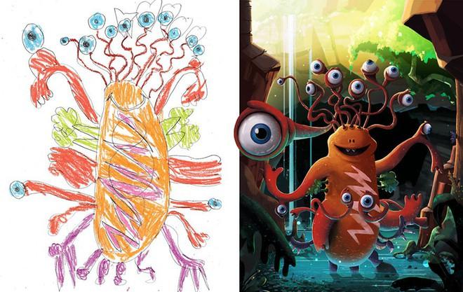 [Ảnh] Chiêm ngưỡng những tác phẩm độc đáo, kỳ lạ của trẻ em khi được chấp bút bởi họa sĩ chuyên nghiệp - Ảnh 7.