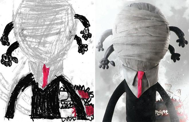 [Ảnh] Chiêm ngưỡng những tác phẩm độc đáo, kỳ lạ của trẻ em khi được chấp bút bởi họa sĩ chuyên nghiệp - Ảnh 5.