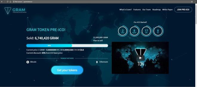 Website Gramtoken.io