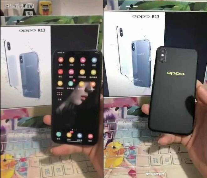 Camera kép sau của OPPO R13 cũng được thiết kế dọc theo máy như trên iPhone X?