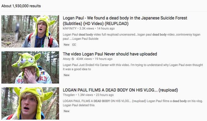 Video quay cảnh thi thể một người tự tử của Logan Paul được đăng lại và lọt top phổ biến, vấn đề cực kỳ nghiêm trọng với YouTube - Ảnh 3.