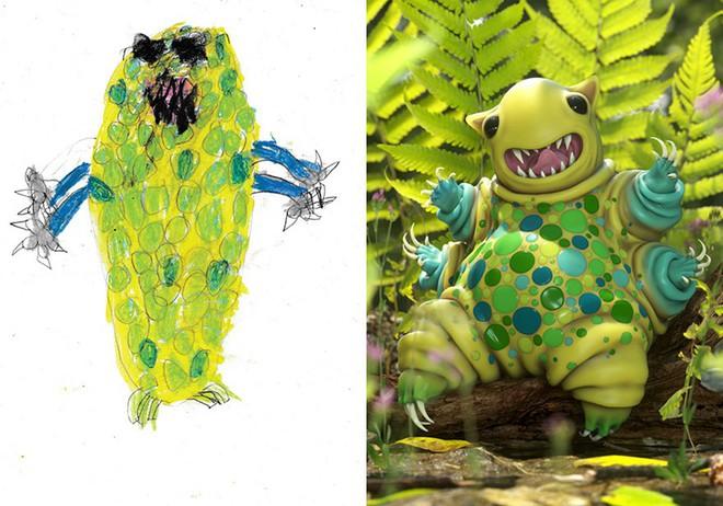 [Ảnh] Chiêm ngưỡng những tác phẩm độc đáo, kỳ lạ của trẻ em khi được chấp bút bởi họa sĩ chuyên nghiệp - Ảnh 1.