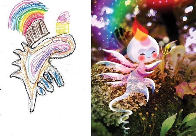 [Ảnh] Chiêm ngưỡng những tác phẩm độc đáo, kỳ lạ của trẻ em khi được chấp bút bởi họa sĩ chuyên nghiệp - Ảnh 2.