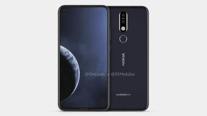 Nokia 8.1 Plus lộ thiết kế hoàn chỉnh với màn hình đục lỗ, camera kép phía sau - Ảnh 1.