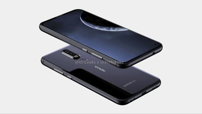 Nokia 8.1 Plus lộ thiết kế hoàn chỉnh với màn hình đục lỗ, camera kép phía sau - Ảnh 2.