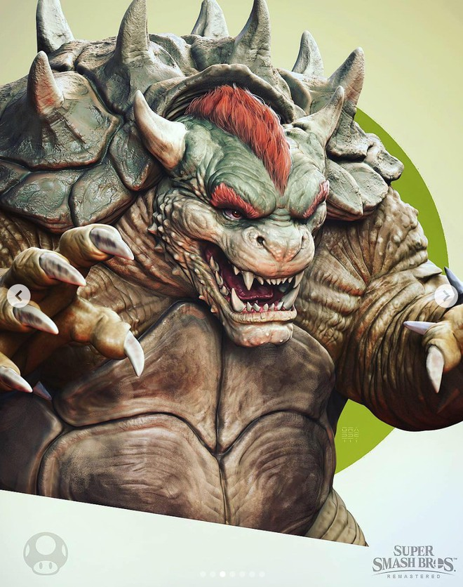 Những nhân vật dễ thương trong game của Nintendo bỗng hoá quái vật, trai đẹp,... dưới bàn tay nhà thiết kế God of War - Ảnh 4.