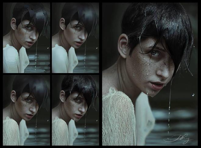 Vẽ tóc mất nửa tháng, designer Việt gây tranh cãi với tác phẩm tả thực siêu chi tiết - Ảnh 6.