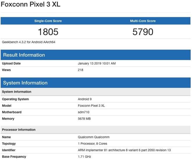 Pixel 3 XL Lite trang bị chip Snapdragon 710, RAM 6GB, hiệu năng thất vọng - Ảnh 2.