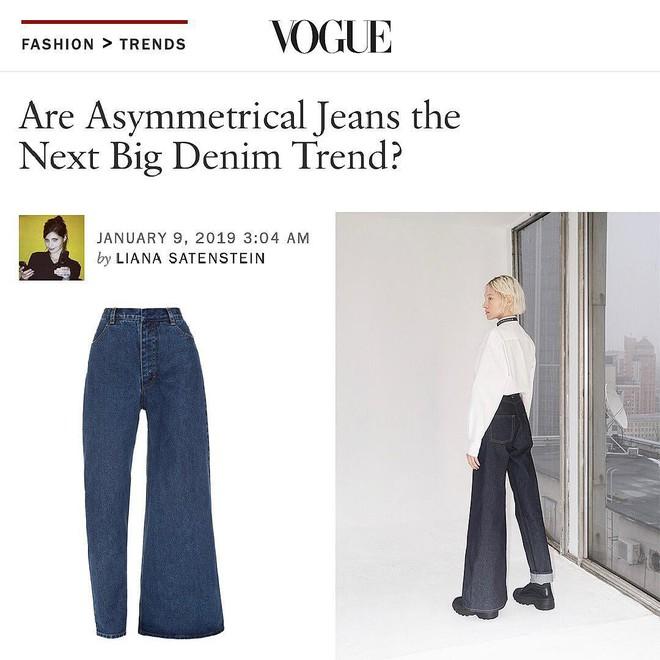 Chiếc quần jeans bên loe bên xìu giá 8 triệu 7 hứa hẹn phá đảo làng thời trang năm 2019 - Ảnh 4.