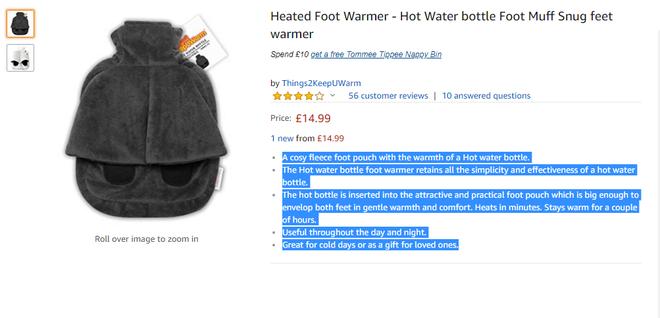 Nói lời tạm biệt đôi chân lạnh cóng với dép sưởi nước nóng 450.000 đồng trên Amazon - Ảnh 2.