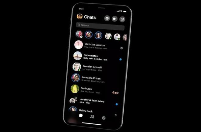 Đây chính là giao diện người dùng mới và chế độ Dark mode của Facebook Messenger - Ảnh 1.