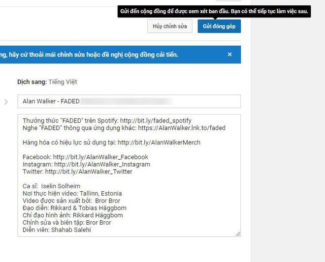 MV Faded và Alone của DJ Alan Walker bất ngờ hacker Việt đổi tên nhằm quảng cáo cho một kênh YouTube cá nhân - Ảnh 2.