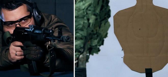 [Vietsub] Vén màn bí ẩn: Dùng chổi che chắn thì sẽ an toàn trước đạn 5.45 mm của súng AK? - Ảnh 2.
