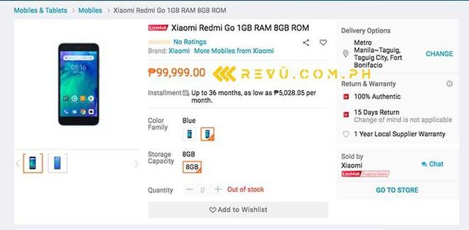 Redmi Go, smartphone Android Go đầu tiên của Xiaomi lộ diện: Snapdragon 425, RAM 1GB, ROM 8GB, pin 3000mAh - Ảnh 2.