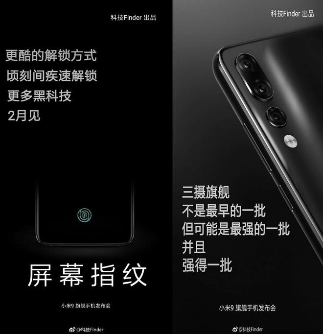 Xiaomi Mi 9 với Snapdragon 855, 3 camera sau, cảm biến vân tay dưới màn hình sẽ ra mắt trước Galaxy S10? - Ảnh 1.