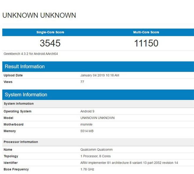 Rò rỉ điểm Geekbench được cho là của Snapdragon 855, điểm đa lõi ngang ngửa Apple A12 Bionic, nhưng kém về đơn lõi - Ảnh 1.
