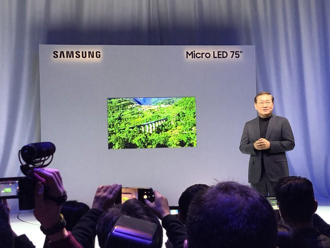 [CES 2019] Samsung giới thiệu màn hình công nghệ Micro LED thế hệ thứ hai kích cỡ siêu khủng lên tới 219 inch - Ảnh 1.