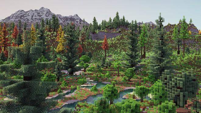Dành cả năm trời tái tạo lại địa hình Minecraft, anh chàng khiến Reddit mê mẩn và cho ngay 12.400 upvote - Ảnh 1.