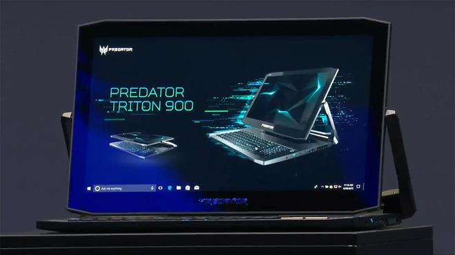 [CES 2019] Acer ra mắt laptop gaming 2-in-1 Predator Triton 900 với màn hình 17 inch 4K lật như gương, trang bị RTX 2080, giá bán từ 4.000 USD - Ảnh 1.