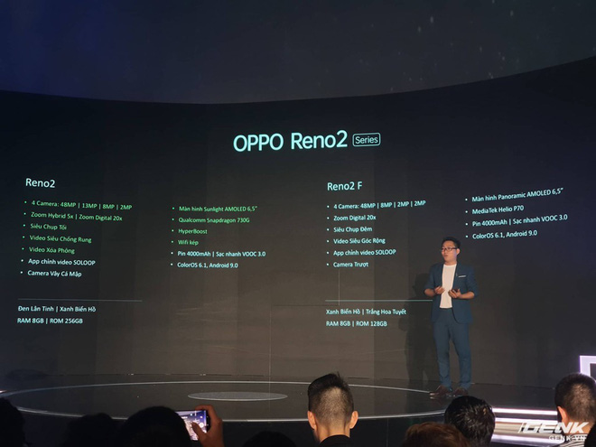Trên tay bộ đôi Oppo Reno 2 và 2F chính thức ra mắt tại Việt Nam hôm nay: Thiết kế vây cá mập độc quyền, 4 camera, sạc VOOC 3.0, giá 8,99 và 14,99 triệu đồng - Ảnh 14.