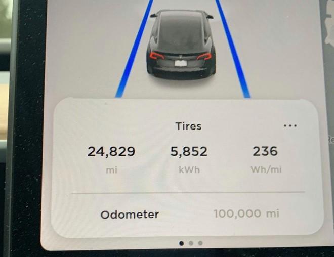 Đây là chiếc Tesla Model 3 đầu tiên cán mốc 100.000 dặm, và chỉ mất 500 USD thay thế phụ tùng - Ảnh 1.