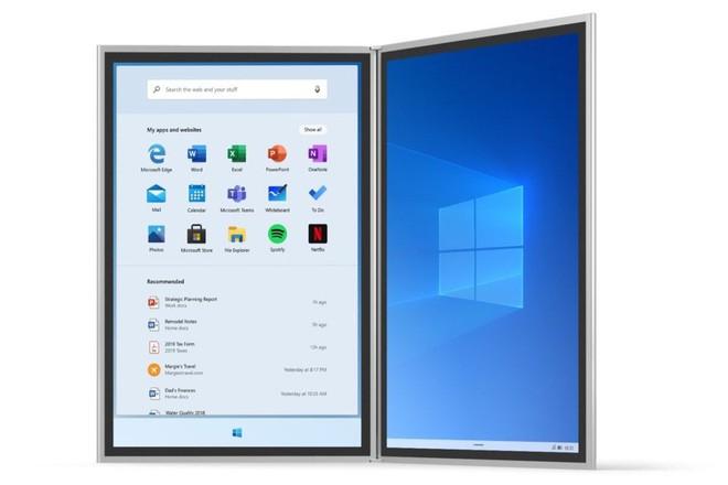 Microsoft tiết lộ những hình ảnh đầu tiên của Windows 10X, sẽ được trang bị cho cả laptop - Ảnh 1.