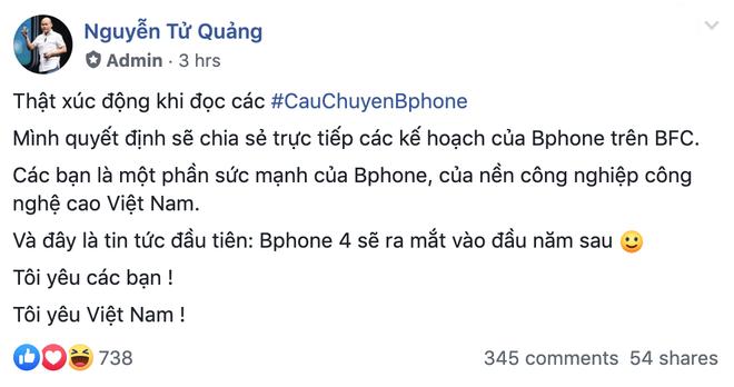 CEO BKAV Nguyễn Tử Quảng xác nhận Bphone 4 sẽ ra mắt đầu năm sau - Ảnh 2.