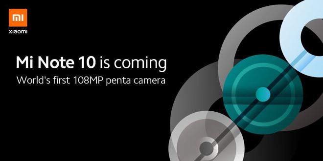 Xiaomi xác nhận ra mắt Mi Note 10 với 5 camera, độ phân giải 108MP - Ảnh 1.