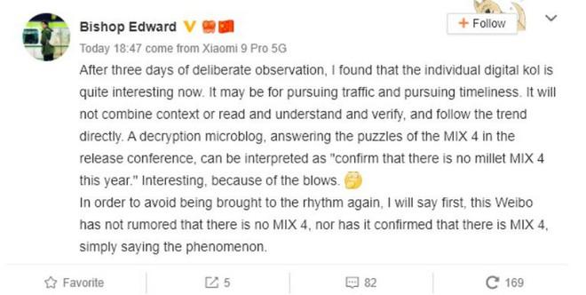 Sếp Xiaomi vừa phải đăng đàn cải chính vì lỡ miệng tuyên bố sẽ không có Mi Mix 4 - Ảnh 2.