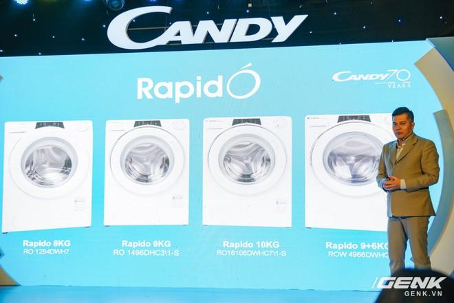 Candy ra mắt dòng máy giặt Rapido: giặt nhanh 39 phút, có kết nối với smartphone giá từ 8,8 triệu đồng - Ảnh 1.