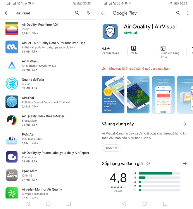 AirVisual đột ngột biến mất tại VN: Không thể cài ứng dụng, fanpage Facebook chặn người Việt - Ảnh 2.