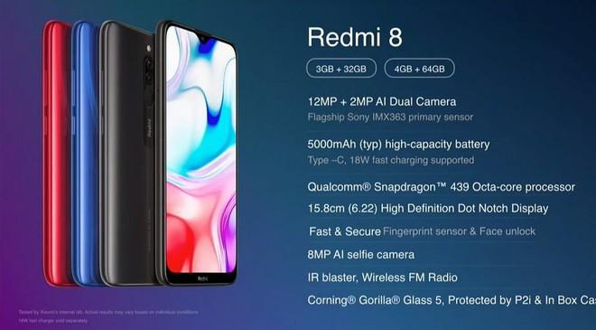 Redmi 8 ra mắt: Smartphone giá rẻ với chip Snapdragon 439, camera kép, pin 5.000 mAh, 112 USD - Ảnh 1.