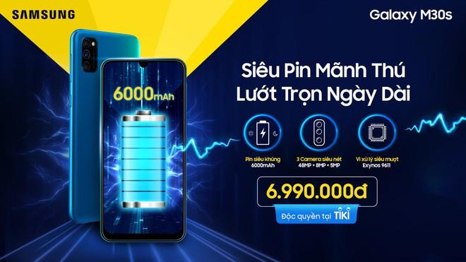 Samsung ra mắt Galaxy M30s tại Việt Nam: Pin 6000mAh, 3 camera, giá 6.99 triệu đồng - Ảnh 2.