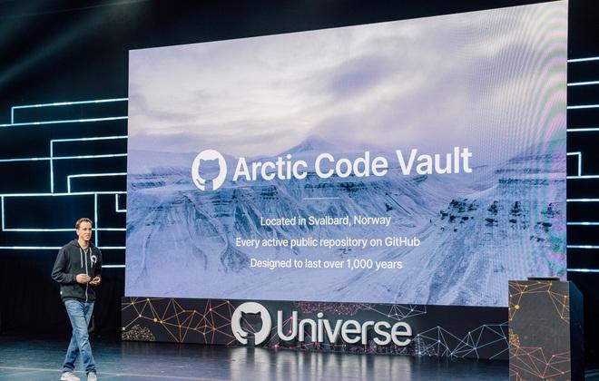 Lo sợ thế giới sẽ có ngày tận thế, GitHub chôn toàn bộ kho chứa của mình xuống dưới Bắc Cực - Ảnh 1.