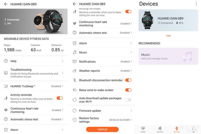 Đánh giá Huawei Watch GT2: Phần mềm kéo đuôi phần cứng - Ảnh 16.