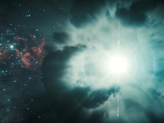 Khoa học chứng kiến luồng ánh sáng chói nhất Vũ trụ, sinh ra bởi vụ nổ tia gamma mạnh gấp hàng tỷ lần Mặt Trời, xảy ra cách Trái Đất 5 tỷ năm ánh sáng - Ảnh 1.