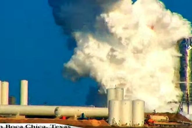 Tên lửa siêu to khổng lồ của SpaceX phát nổ trong lần đầu tiên thử nghiệm - Ảnh 1.