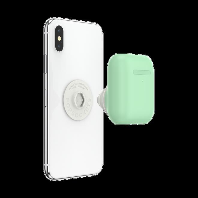 Khó thế mà vẫn làm: PopSocket ra mắt móc đeo gắn vào điện thoại chứa luôn cả hộp đựng Airpods - Ảnh 1.